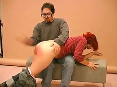 redhead spanked and paddled