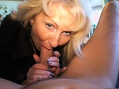 Blond German Milf - Fucks a Guy with her Nylons