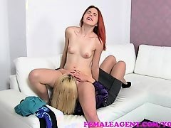 FemaleAgent Bisexual redhead with puffy nipples makes MILFs pussy wet