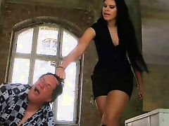 Tall Gorgeous Mistress humiliate her slaves 3