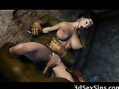 Evil Ogres Fuck a 3D Princess!