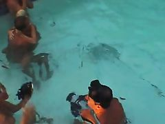Filming  Underwater 3some!