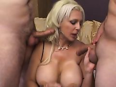 big tit blonde threesome mmf