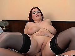 Yummy anal pounding for breasty playgirl