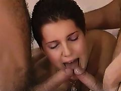 Short Hair Curvy Double Penetration