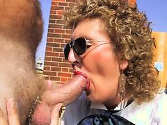 Granny Head #39 On The Balcony (GILF)