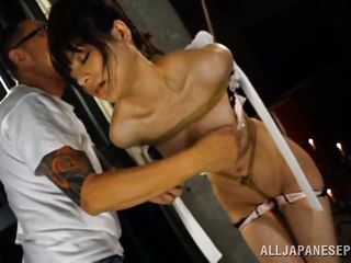 japanese slave has hot wax poured over her