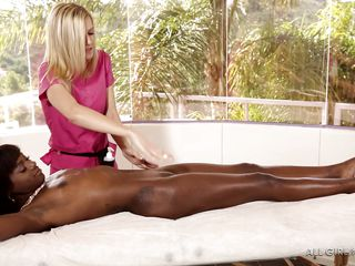 three bitches are in for a kinky massage