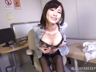 milf doctor takes her sweet tits out