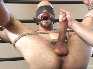 gay slave has a fleshlight used on him