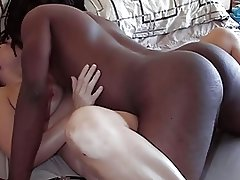 Hubby video tapes wife getting fucked by black stud