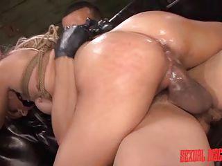 blonde sex slave gets fucked hard