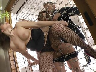 two busty brunettes sharing a big dick @ rocco's abbondanza #04