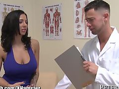 Doctor gets in his Huge TITS Paitent