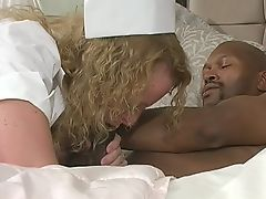 nurse takes a bbc's temperature