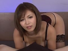 Serious POV oral scenes with superb Mai Kuroki