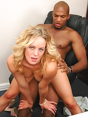 Steamy white hottie fucking black hammer