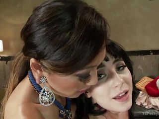 asian shemale mistress pounds a skinny slut's tight vagina