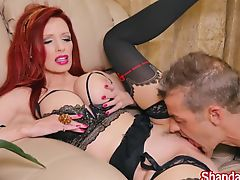 Milf Shanda Fay Makes Him Cum and Eat it!