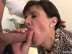 Unfaithful british milf lady sonia flaunts her enormous boob