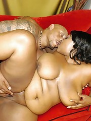 Extra large black hottie sucking cock like a total pro