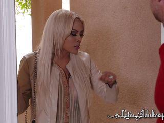 naughty latina cheats on her husband with their neighbor