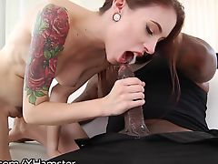 DarkX Skinny Babe Anal Riding Big Black Dick