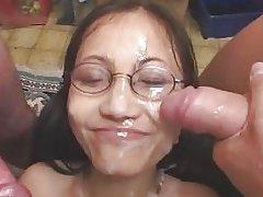 Expressive Asian Cumshots Lover with German Guys (bukkake)