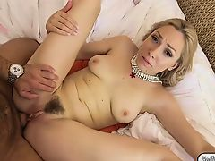 Blonde Lilly Lebeau lets bf fuck her virgin tight ass