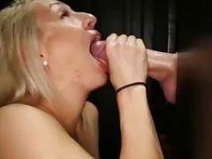 8 Cock hungry Chicks sucking off strangers in gloryhole