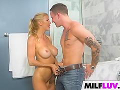 Busty MILF Fucked In Shower
