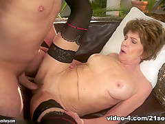 Incredible pornstar in Exotic Grannies, Stockings xxx scene
