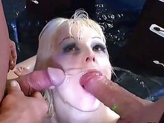 Blonde piss drenched slut