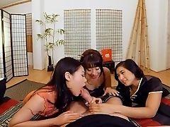VR PORN-Three hot asian girls pleasureing your dick