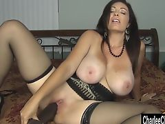 Horny Big Tit MILF Charlee Chase Stuffs Pussy With Big Black