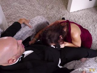 syren sucks off the groom on his wedding day