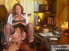 Crazy pornstars in Hottest Redhead, Stockings sex scene