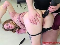 Beautiful slave turned into twisted monster and anal gaped