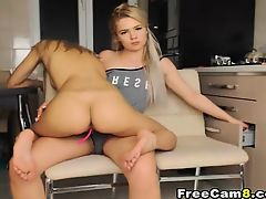 Toy Action from Hot Beautiful Teen Lesbian