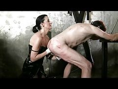 Mistress Claudiacuir fisting slave rick