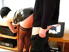 Dirty secretary invites her boss for a cup of coffee and fucks him