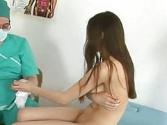 Young russian teen gets her tight holes examinated