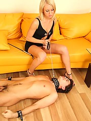 Scary uncensored pictures featuring insane act of real female domination