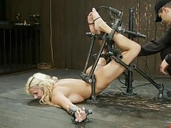 Busty Blonde Teen getting Tied Up An On Top Of A Fucking Machine
