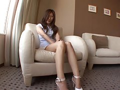 Yuna Shiina gets fucked from behind in a hotel room