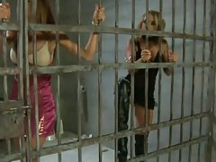 Two inprisoned girls get fucked by security guard