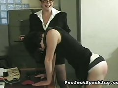 Lovely ass gets properly spanked