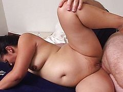 Pregnant Latina waiting for the cock