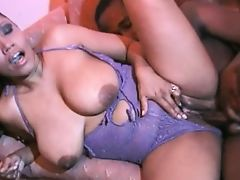 Big Titted Ebony Kira Gets Her Twat Pounded