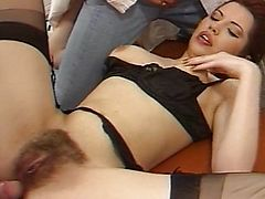 German Brunette Masseuse fucked